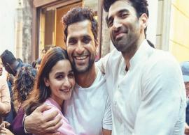 Alia Bhatt posts smiling photo with Aditya Roy Kapur and Abhishek Varman Post Kalank Wrap