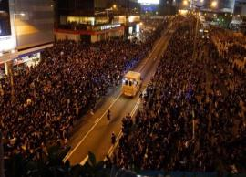 VIDEO- Protestors in Hong Kong allow ambulance to pass, garner praise online