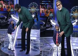 Amitabh Bachchan meets kid living with progeria on sets of 'Kaun Banega Crorepati'