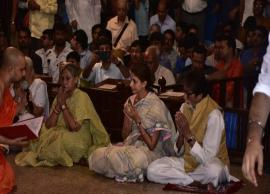Amitabh Bachchan and family spotted performing Durga puja in Mumbai; see pictures