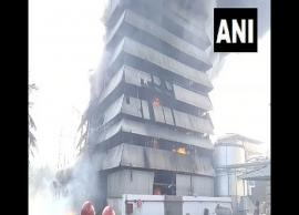 Fire breaks out at Srichakra Oil Mill in East Godavari district in Andhra Pradesh