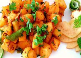 Navratri Recipe- Tangy and Delicious Apple ki Sabzi