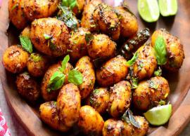 Recipe- Baby Potato Fry For Lunch