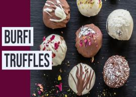 Recipe- Burfi Truffles Dipped in Dark Chocolate
