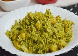 Recipe- Easy To Make Chana Palak Pulao