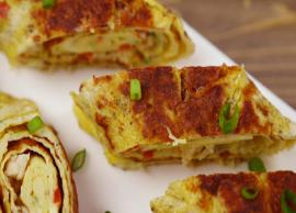 Recipe - A Great tasty light Dinner - Chicken Omelette Rolls