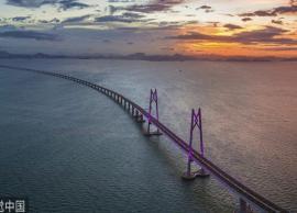 दुनिया का सबसे लंबा समुद्री पुल, लंबाई 55 KM , 8 साल में हुआ तैयार, देखे तस्वीरे-Photo Gallery