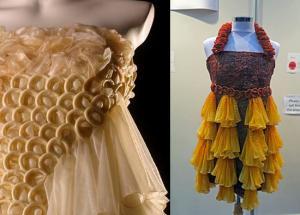 5 dresses made of condoms