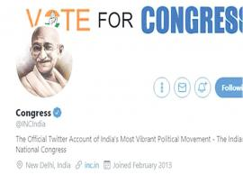 Congress puts Mahatma Gandhi image on twitter profile