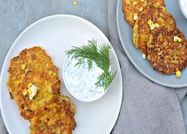 Recipe- Specially For Weekend Corn Fritters With Yogurt Dip
