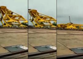 11 killed after massive crane collapses in Andhra Pradesh; incident captured on video