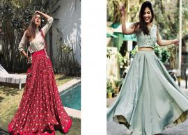 Diwali 2019- 5 Ways To Style Crop Top and Skirt