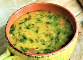 Recipe- Dal Palak For Healthy You