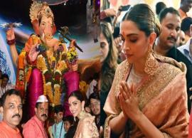 VIDEO- Deepika Padukone seeks blessings at Lalbaughcha Raja in Mumbai