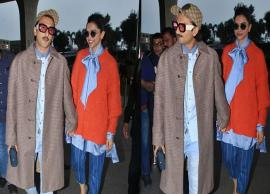 PICS- Ranveer Singh joins Deepika Padukone in dressing bizarrely on her birthday