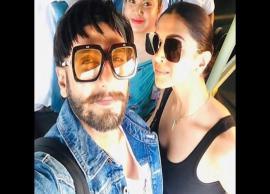 Deepika Padukone and Ranveer Singh click photos with fans in Sri Lanka