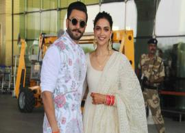 Newlyweds Deepika Padukone and Ranveer Singh head to Bangalore for their reception-Photo Gallery