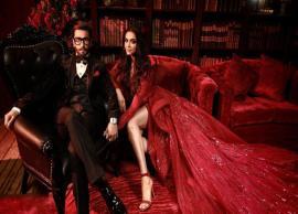 ब्लैक सूट में रणवीर और रेड गाउन में दीपिका, कमाल की लग रही थी इनकी जोड़ी, देखे तस्वीरें-Photo Gallery