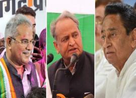 Elections 2018: Kamal Nath, Ashok Gehlot, Bhupesh Baghel emerge front-runners for CM posts
