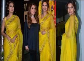 बड़ी बहन के कलेक्शन लॉन्च पर पीली साड़ी में दिखी ईशा गुप्ता, देखे तस्वीरे-Photo Gallery