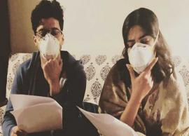 Farhan Akhtar, Priyanka Chopra beat Delhi pollution with masks