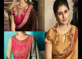 5 Trending Front Neck Designs For Blouse