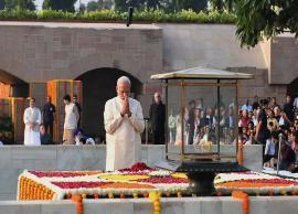 Gandhi Jayanti- PM Modi, President Kovind, other leaders pay homage to Mahatma Gandhi at Rajghat