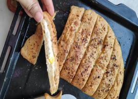 Recipe- Cheese Filled Wheat Garlic Bread