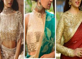 5 Most Trending Golden Blouse Designs To Match With Any Saree