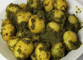 Recipe- Restaurant Style Green Gravy Baby Potatoes