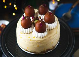Recipe- Eggless Gulab Jamun Cake