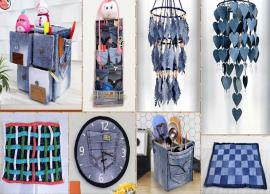 5 Ways To Use Old Denims For House Decoration