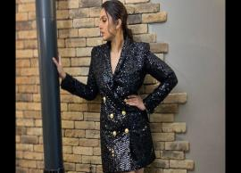 Huma Qureshi shimmers in a black Balmain blazer-dress at Cannes Film Festival 2019