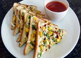 Recipe- Easy To Make Indian Cheese Corn Toast