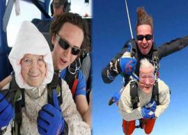 102 साल की महिला बनीं सबसे बुजुर्ग स्काईडाइवर, 14,000 फुट से लगाई छलांग, बनाया रेकॉर्ड