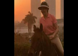 PICS- Jacqueline Fernandez Horse Riding Pics Will Make Your Day-Photo Gallery