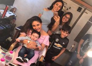 PICS Karishma and Kareena Had a Cute Surprise Moment on Their Sets