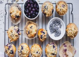 Recipe- Super Soft and Eggless Lavender Berry Muffins