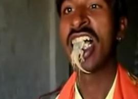 Incredible! This Man Eats Lizards Every Single Day
