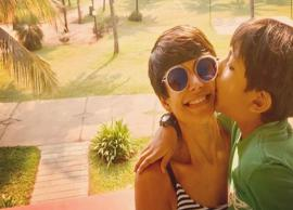 PICS- Mandira Bedi Having Fun With Son In Goa is Too Adorable-Photo Gallery