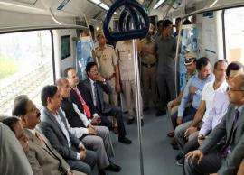 Metro rail service in Hyderabad inaugurated by Rama Rao, Puvvada