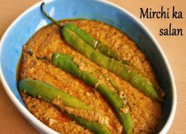 Recipe- Andhra Style Mirchi Ka Salan