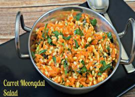 Recipe- This Weekend Treat Your Family With Moong Dal Carrot Salad