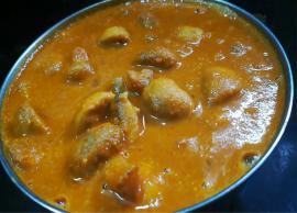 Recipe- South Indian Style Mushroom Kuzhambu