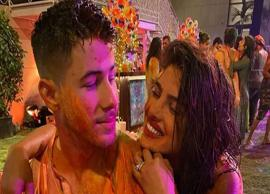 VIDEO- Nick Jonas celebrates his first Holi with Priyanka Chopra in Mumbai