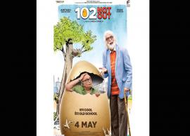 Amitabh Bachchan And Rishi Kapoor Looks Quirky in 102 Not Out Poster
