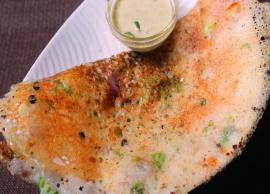 Recipe- Enjoy The Pre Weekend With Onion Rava Dosa