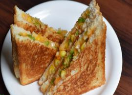 Recipe - Easy and Delectable Paneer Sweet Corn Sandwich
