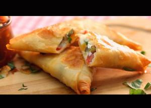 Recipe- Pizza Samosa For Kitty Parties