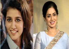 VIDEO- The Wink Girl Priya Prakash Gave Tribute To Sridevi in a Special Way